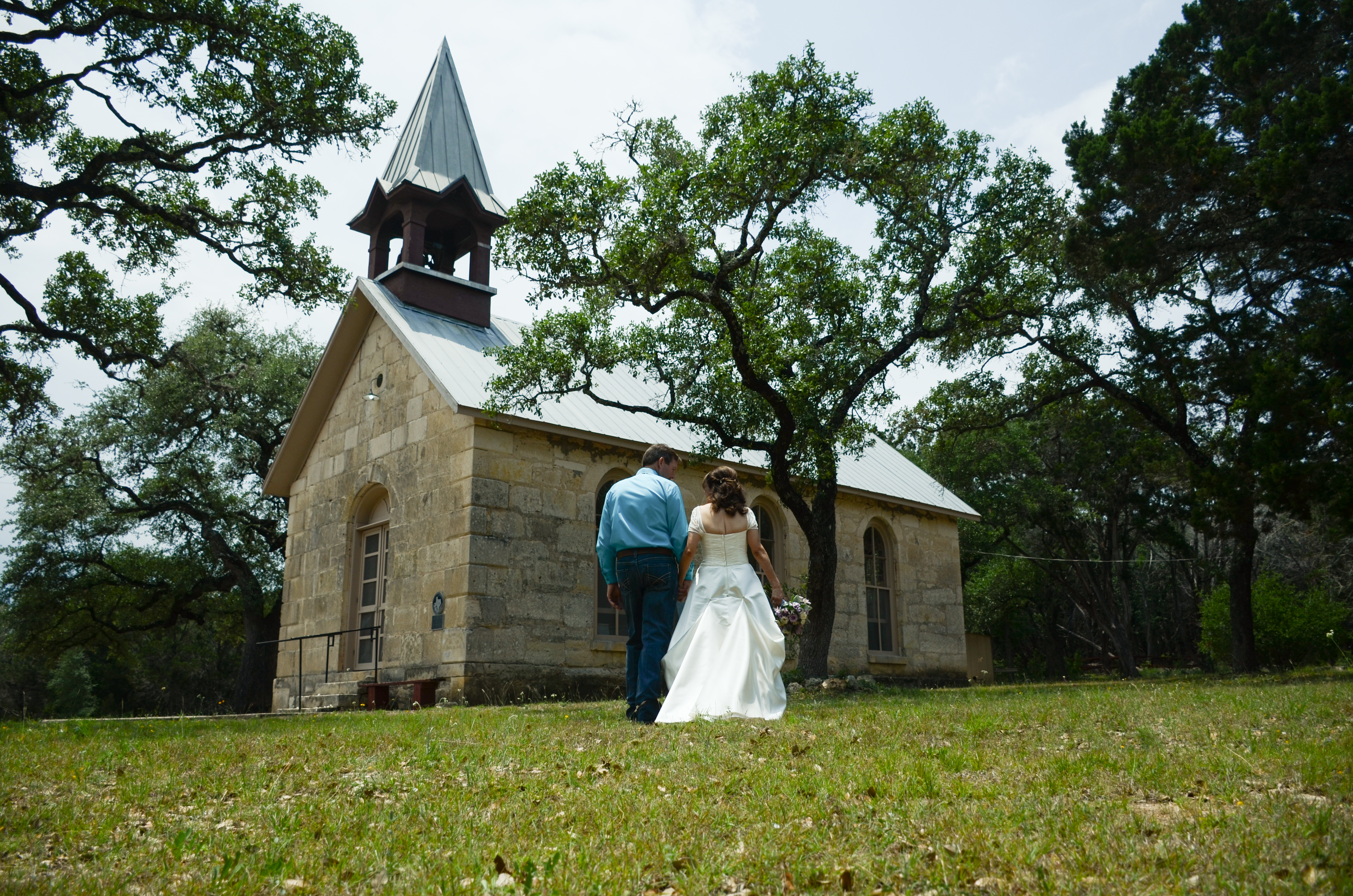 The Chapel Is An Indoor Small With Pews For Guest Seating In Hill Country