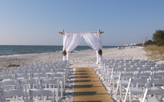 Mustang island beach weddings